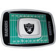 "Oakland Raiders Melamine Chip & Dip Tray - Add an extra kick to your game day dip with Siskiyou's Oakland Raiders Melamine Chip and Dip Tray! This tray will add that extra touch of team spirit for your watch party or tailgate. 17""x12"" Allows plenty of room for chips, veggies and dip to go around the convenient dip bowl located in the center of the tray.  Tray is Dishwasher safe. Officially licensed NFL product Licensee: Siskiyou Buckle Thank you for visiting CrazedOutSports.com"