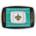 "New Orleans Saints Melamine Chip and Dip Tray - Add an extra kick to your game day dip with Siskiyou's Chicago Bears Melamine Chip and Dip Tray! This tray will add that extra touch of team spirit for your watch party or tailgate. 17""x12"" Allows plenty of room for chips, veggies and dip to go around the convenient dip bowl located in the center of the tray.  Tray is Dishwasher safe. Officially licensed NFL product Licensee: Siskiyou Buckle .com"