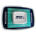 "Seattle Seahawks Melamine Chip and Dip Tray - Add an extra kick to your game day dip with Siskiyou's Chicago Bears Melamine Chip and Dip Tray! This tray will add that extra touch of team spirit for your watch party or tailgate. 17""x12"" Allows plenty of room for chips, veggies and dip to go around the convenient dip bowl located in the center of the tray.  Tray is Dishwasher safe. Officially licensed NFL product Licensee: Siskiyou Buckle .com"