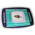 "Baltimore Ravens Melamine Chip and Dip Tray - Add an extra kick to your game day dip with Siskiyou's Baltimore Ravens Melamine Chip and Dip Tray! This tray will add that extra touch of team spirit for your watch party or tailgate. 17""x12"" Allows plenty of room for chips, veggies and dip to go around the convenient dip bowl located in the center of the tray.  Tray is Dishwasher safe. Officially licensed NFL product Licensee: Siskiyou Buckle .com"