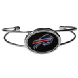 Buffalo Bills Cuff Bracelet - These comfortable and fashionable double-bar cuff bracelets feature a 1 inch metal Buffalo Bills inset logo with enameled detail.