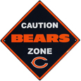 Chicago Bears Caution Wall Sign Plaque