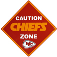 Kansas City Chiefs Caution Wall Sign Plaque