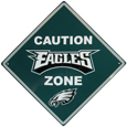 Philadelphia Eagles Caution Wall Sign Plaque