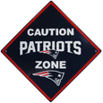 New England Patriots Caution Wall Sign Plaque
