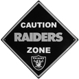 Las Vegas Raiders Caution Wall Sign Plaque