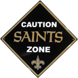 New Orleans Saints Caution Wall Sign Plaque