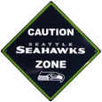 Seattle Seahawks Caution Wall Sign Plaque