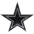 Dallas Cowboys Crystal Pin - The Dallas Cowboys 2 inch pin is covered in team colored crystals on a silver plated painted background.
