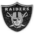 Oakland Raiders Crystal Pin