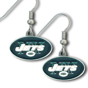 NFL Dangle Earrings - New York Jets - Enameled zinc New York Jets logo earrings with the NFL New York Jets Logo. A great way to show off your New York Jets spirit! Check out our entire licensed sports New York Jets jewelry line! Officially licensed NFL product Licensee: Siskiyou Buckle Thank you for visiting CrazedOutSports.com