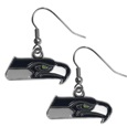 Seattle Seahawks Chrome Dangle Earrings - Officially licensed Seattle Seahawks chrome dangle earrings have fully cast Seattle Seahawks charms with exceptional detail and a hand enameled finish. The earrings have a high polish nickel free chrome finish and hypoallergenic fishhook posts. Officially licensed NFL product Licensee: Siskiyou Buckle. !