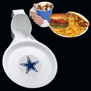 Dallas Cowboys Drink & Plate 2pk - The Dallas Cowboys drink & plate is perfect for outdoor and indoor events this unique plate allows you to hold your drink and food comfortable in one hand. The plate features an attractive team logo. You can use the sturdy plate on its own or you can use it as a strong base for paper plates.  Officially licensed NFL product Licensee: Siskiyou Buckle .com