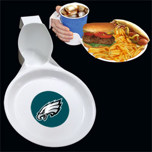 Philadelphia Eagles Drink & Plate 2pk - The Philadelphia Eagles drink & plate is perfect for outdoor and indoor events this unique plate allows you to hold your drink and food comfortable in one hand. The plate features an attractive team logo. You can use the sturdy plate on its own or you can use it as a strong base for paper plates. Officially licensed NFL product Licensee: Siskiyou Buckle .com