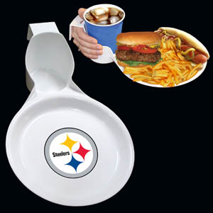 Pittsburgh Steelers Drink and Plate 2pk - The Pittsburgh Steelers drink & plate is perfect for outdoor and indoor events this unique plate allows you to hold your drink and food comfortable in one hand. The plate features an attractive team logo. You can use the sturdy plate on its own or you can use it as a strong base for paper plates.  Officially licensed NFL product Licensee: Siskiyou Buckle .com