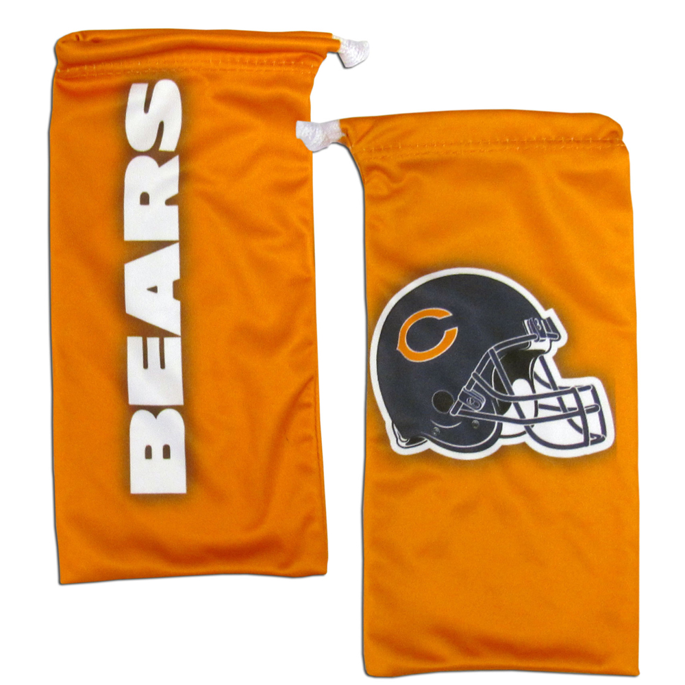 Chicago Bears Microfiber Sunglass Bag - Our officially licensed, soft microfiber glasses bag  with the Chicago Bears logo on one side and the team name on the other. The microfiber bag protects your glasses from scratches and can be used as a cleaning cloth.