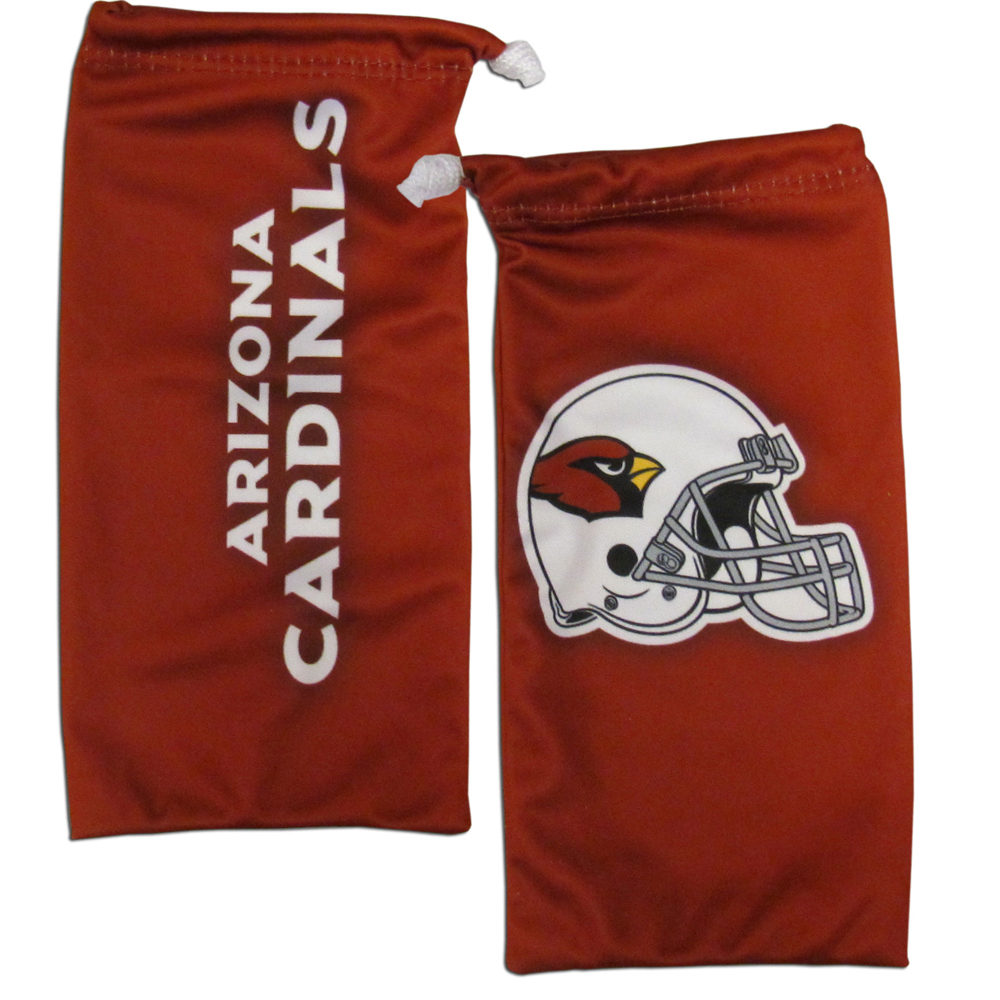 Arizona Cardinals Microfiber Sunglass Bag - Our officially licensed, soft microfiber glasses bag  with the Arizona Cardinals logo on one side and the team name on the other. The microfiber bag protects your glasses from scratches and can be used as a cleaning cloth.