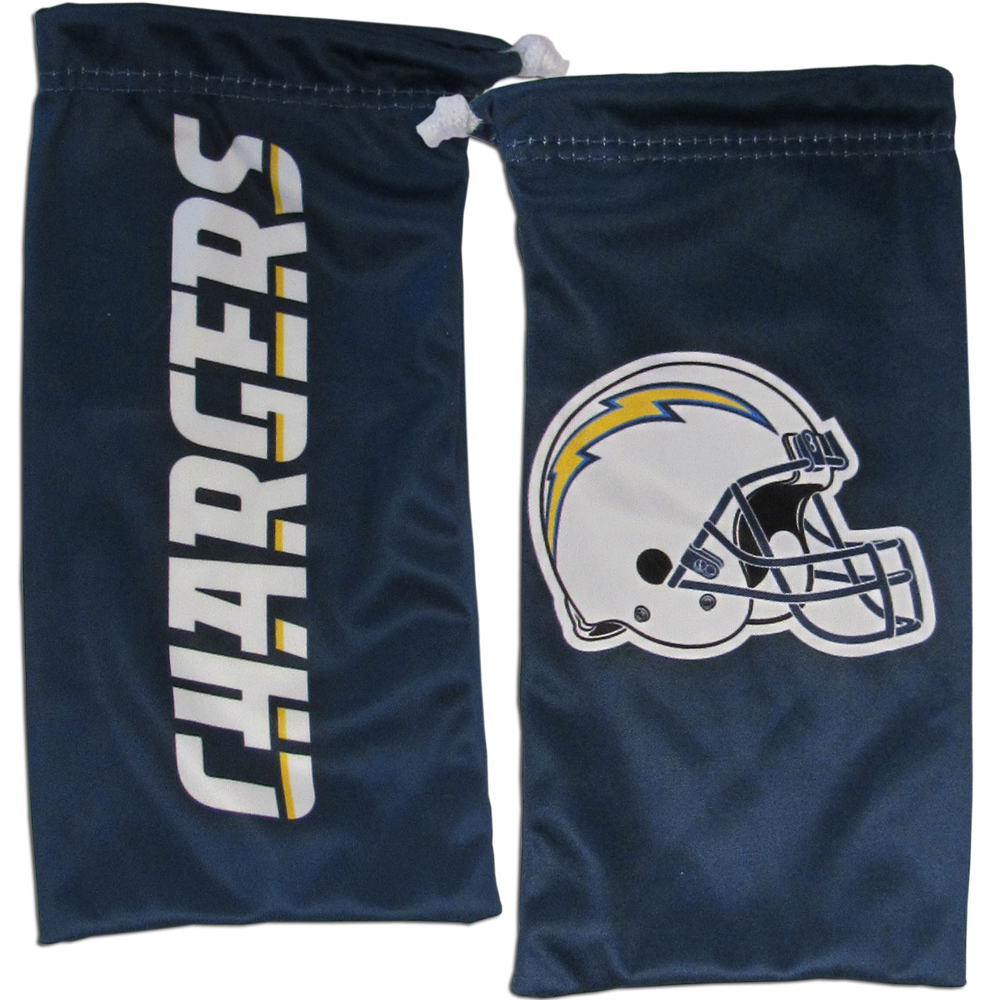 Los Angeles Chargers Microfiber Sunglass Bag - Our officially licensed, soft microfiber glasses bag  with the Los Angeles Chargers logo on one side and the team name on the other. The microfiber bag protects your glasses from scratches and can be used as a cleaning cloth.