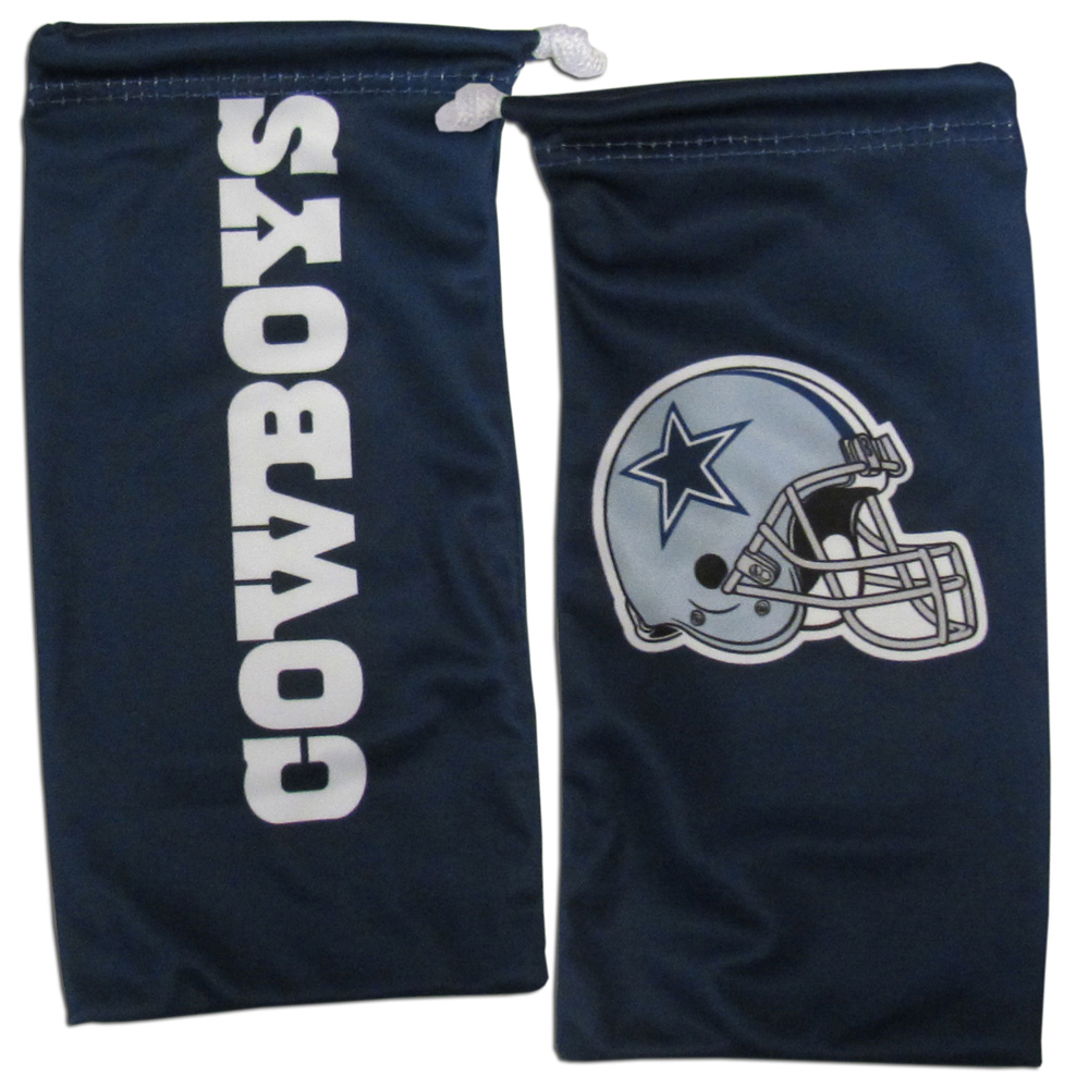 Dallas Cowboys Microfiber Sunglass Bag - Our officially licensed, soft microfiber glasses bag  with the Dallas Cowboys logo on one side and the team name on the other. The microfiber bag protects your glasses from scratches and can be used as a cleaning cloth.