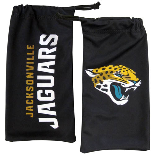 Jacksonville Jaguars Microfiber Glasses Bag - Our officially licensed NFL soft microfiber glasses bag  with the Chicago Bears logo on one side and the team name on the other. The microfiber bag protects your glasses from scratches and can be used as a cleaning cloth. Officially licensed NFL product Licensee: Siskiyou Buckle Thank you for visiting CrazedOutSports.com