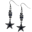 Dallas Cowboys Euro Bead Earrings