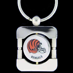 Cincinnati Bengals Executive NFL Key Chain - Exquisitely crafted silver key chain with your NFL team's logo. Check out our entire line of  NFL merchandise!  Officially licensed NFL product Licensee: Siskiyou Buckle .com