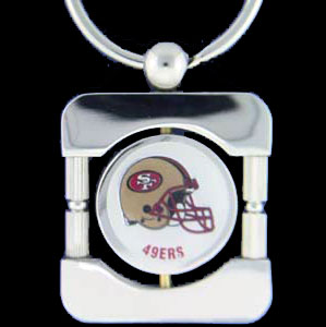 San Francisco 49ers Executive NFL Key Chain - Exquisitely crafted silver key chain with your NFL team's logo. Check out our entire line of  NFL merchandise! Officially licensed NFL product Licensee: Siskiyou Buckle .com