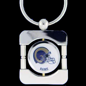 St. Louis Rams Executive NFL Key Chain - Exquisitely crafted silver key chain with your NFL team's logo. Check out our entire line of  NFL merchandise! Officially licensed NFL product Licensee: Siskiyou Buckle .com