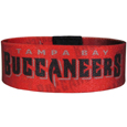 Tampa Bay Buccaneers Stretch Bracelets - Instantly become a team VIP with these colorful wrist bands! These are not your average, cheap stretch bands the stretch fabric and dye sublimation allows the crisp graphics and logo designs to really pop. A must have for any Tampa Bay Buccaneers fan! Officially licensed NFL product Licensee: Siskiyou Buckle .com