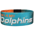 Miami Dolphins Stretch Bracelets - Instantly become a team VIP with these colorful wrist bands! These are not your average, cheap stretch bands the stretch fabric and dye sublimation allows the crisp graphics and logo designs to really pop. A must have for any Miami Dolphins fan! Officially licensed NFL product Licensee: Siskiyou Buckle Thank you for visiting CrazedOutSports.com