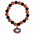 Chicago Bears Fan Bead Bracelet - Flash your Chicago Bears spirit with this bright stretch bracelet. This new bracelet features multicolored team beads on stretch cord with a nickel-free enameled chrome team charm. This bracelet adds the perfect pop of color to your game day accessories. Officially licensed NFL product Licensee: Siskiyou Buckle .com