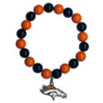 Denver Broncos Fan Bead Bracelet - Flash your Denver Broncos spirit with this bright stretch bracelet. This new bracelet features multicolored team beads on stretch cord with a nickel-free enameled chrome team charm. This bracelet adds the perfect pop of color to your game day accessories. Officially licensed NFL product Licensee: Siskiyou Buckle Thank you for visiting CrazedOutSports.com