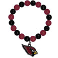 Arizona Cardinals Fan Bead Bracelet - These bright bracelets stretch to fit and feature a full metal Arizona Cardinals team charm with enameled details. Perfect, eye catching game day accessory. Officially licensed NFL product Licensee: Siskiyou Buckle Thank you for visiting CrazedOutSports.com