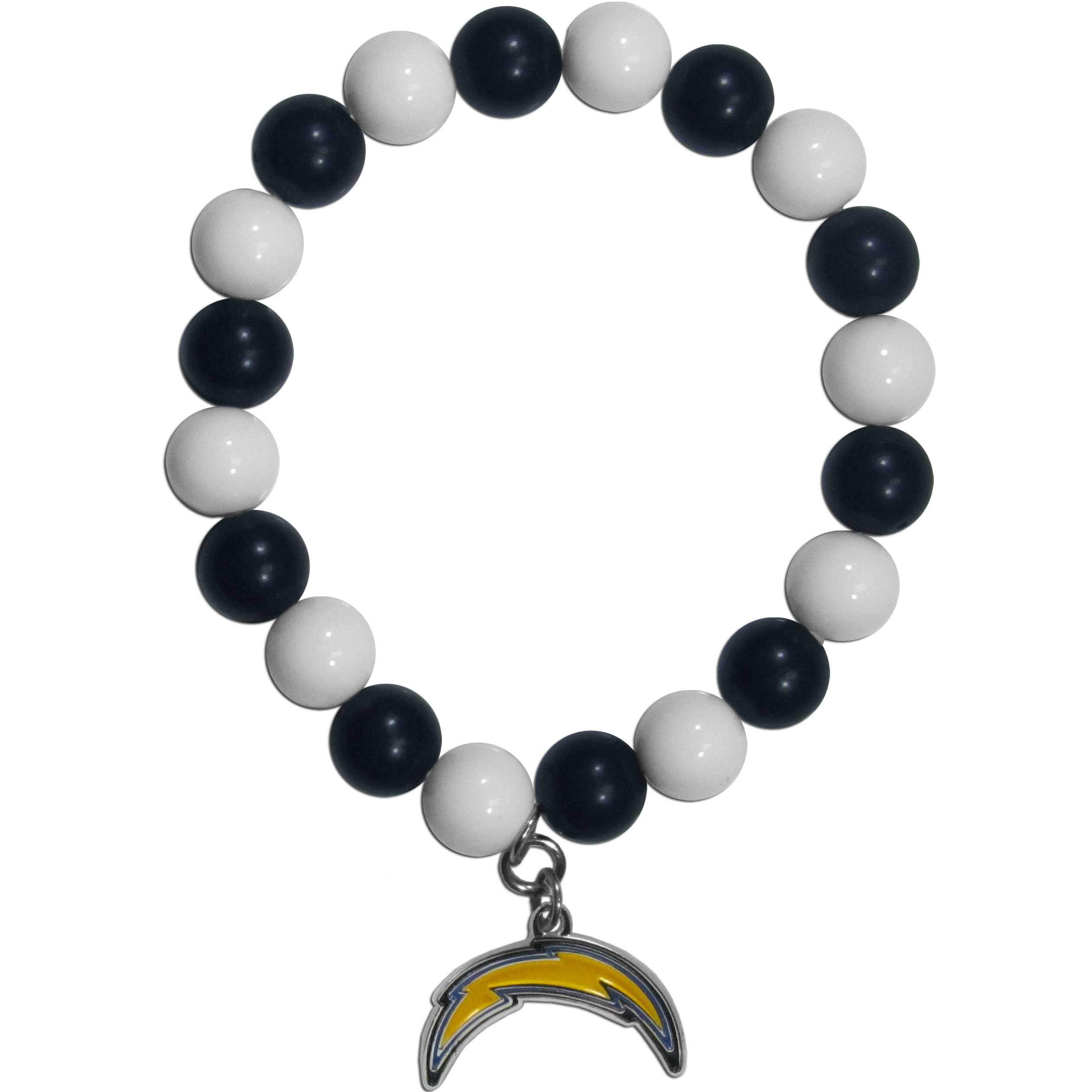San Diego Chargers Fan Bead Bracelet