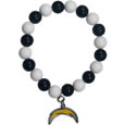 San Diego Chargers Fan Bead Bracelet - Flash your San Diego Chargers spirit with this bright stretch bracelet. This new bracelet features multicolored team beads on stretch cord with a nickel-free enameled chrome team charm. This bracelet adds the perfect pop of color to your game day accessories. Officially licensed NFL product Licensee: Siskiyou Buckle .com