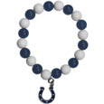 Indianapolis Colts Fan Bead Bracelet - These bright bracelets stretch to fit and feature a full metal team charm with enameled details. Perfect, eye catching game day accessory. Officially licensed NFL product Licensee: Siskiyou Buckle Thank you for visiting CrazedOutSports.com