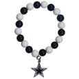 Dallas Cowboys Fan Bead Bracelet - Flash your Dallas Cowboys spirit with this bright stretch bracelet. This new bracelet features multicolored team beads on stretch cord with a nickel-free enameled chrome team charm. This bracelet adds the perfect pop of color to your game day accessories. Officially licensed NFL product Licensee: Siskiyou Buckle Thank you for visiting CrazedOutSports.com