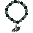 Philadelphia Eagles Fan Bead Bracelet - Flash your Philadelphia Eagles spirit with this bright stretch bracelet. This new bracelet features multicolored team beads on stretch cord with a nickel-free enameled chrome team charm. This bracelet adds the perfect pop of color to your game day accessories. Officially licensed NFL product Licensee: Siskiyou Buckle .com