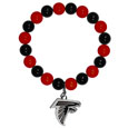 Atlanta Falcons Fan Bead Bracelet - These bright bracelets stretch to fit and feature a full metal Atlanta Falcons team charm with enameled details. Perfect, eye catching game day accessory. Officially licensed NFL product Licensee: Siskiyou Buckle .com