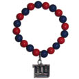 New York Giants Fan Bead Bracelet - Flash your New York Giants spirit with this bright stretch bracelet. This new bracelet features multicolored team beads on stretch cord with a nickel-free enameled chrome team charm. This bracelet adds the perfect pop of color to your game day accessories. Officially licensed NFL product Licensee: Siskiyou Buckle .com