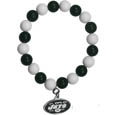 New York Jets Fan Bead Bracelet - Flash your New York Jets spirit with this bright stretch bracelet. This new bracelet features multicolored team beads on stretch cord with a nickel-free enameled chrome team charm. This bracelet adds the perfect pop of color to your game day accessories. Officially licensed NFL product Licensee: Siskiyou Buckle Thank you for visiting CrazedOutSports.com