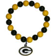 Green Bay Packers Fan Bead Bracelet - Flash your Green Bay Packers spirit with this bright stretch bracelet. This new bracelet features multicolored team beads on stretch cord with a nickel-free enameled chrome team charm. This bracelet adds the perfect pop of color to your game day accessories. Officially licensed NFL product Licensee: Siskiyou Buckle .com