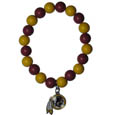 Washington Redskins Fan Bead Bracelet - These bright bracelets stretch to fit and feature a full metal team charm with enameled details. Perfect, eye catching game day accessory. Officially licensed NFL product Licensee: Siskiyou Buckle Thank you for visiting CrazedOutSports.com