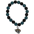 Jacksonville Jaguars Fan Bead Bracelet - These bright bracelets stretch to fit and feature a full metal Jacksonville Jaguars team charm with enameled details. Perfect, eye catching game day accessory. Officially licensed NFL product Licensee: Siskiyou Buckle Thank you for visiting CrazedOutSports.com