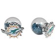 Miami Dolphins Front/Back Earrings