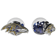 Baltimore Ravens Front/Back Earrings