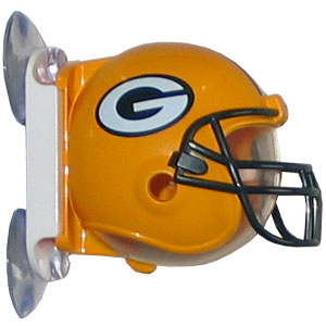 NFL Flipper Toothbrush Holder - Packers - Siskiyou's NFL toothbrush holder is a hygienic way to store your toothbrush while showing off your team pride. The holder mounts to mirrors or glass and opens with one easy touch. Officially licensed NFL product Licensee: Siskiyou Buckle Thank you for visiting CrazedOutSports.com