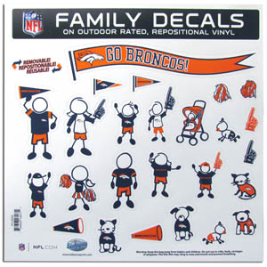 Denver Broncos Family Decals