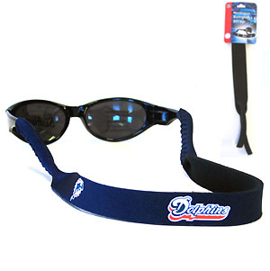 "Miami Dolphins Neoprene NFL Sunglass Strap - Prioritize how you accessorize by teaming our Miami Dolphins neoprene strap with our NFL sunglasses. Straps are adorned in team logos and colors. Sunglasses hang from the 16"" strap with flexible tube openings to fit snuggly over thin to wide styles. Officially licensed NFL product Licensee: Siskiyou Buckle .com"