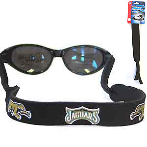"Jacksonville Jaguars Neoprene NFL Sunglass Strap - Prioritize how you accessorize by teaming our Jacksonville Jaguars neoprene strap with our NFL sunglasses. Straps are adorned in team logos and colors. Sunglasses hang from the 16"" strap with flexible tube openings to fit snuggly over thin to wide styles. Officially licensed NFL product Licensee: Siskiyou Buckle Thank you for visiting CrazedOutSports.com"